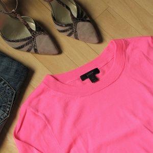 Bright pink J. Crew Sweater Merino Wool Tippi